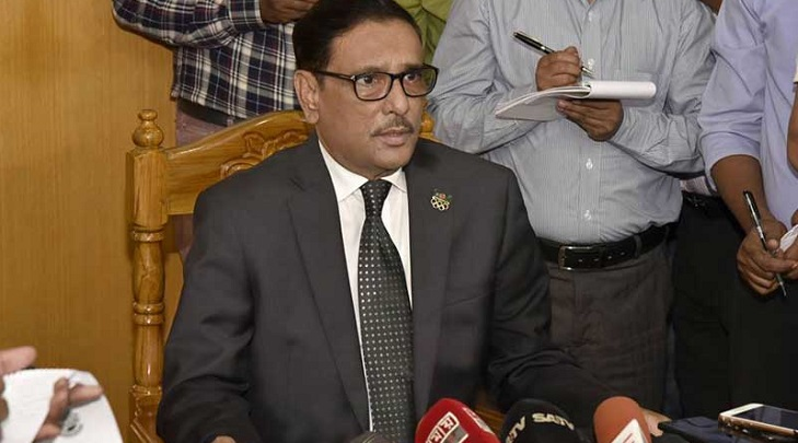 Obaidul Quader alerts Awami League men to BNP-Jamaat conspiracies