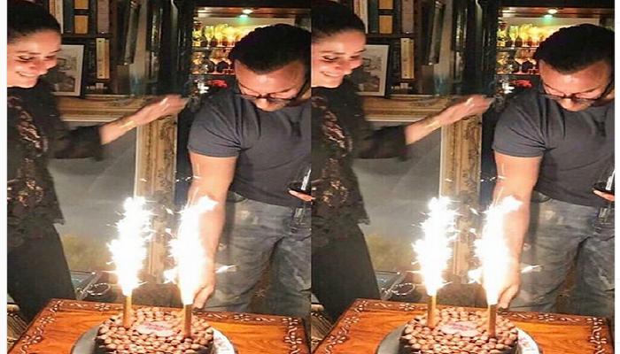 Saif Ali Khan celebrates birthday with Kareena Kapoor