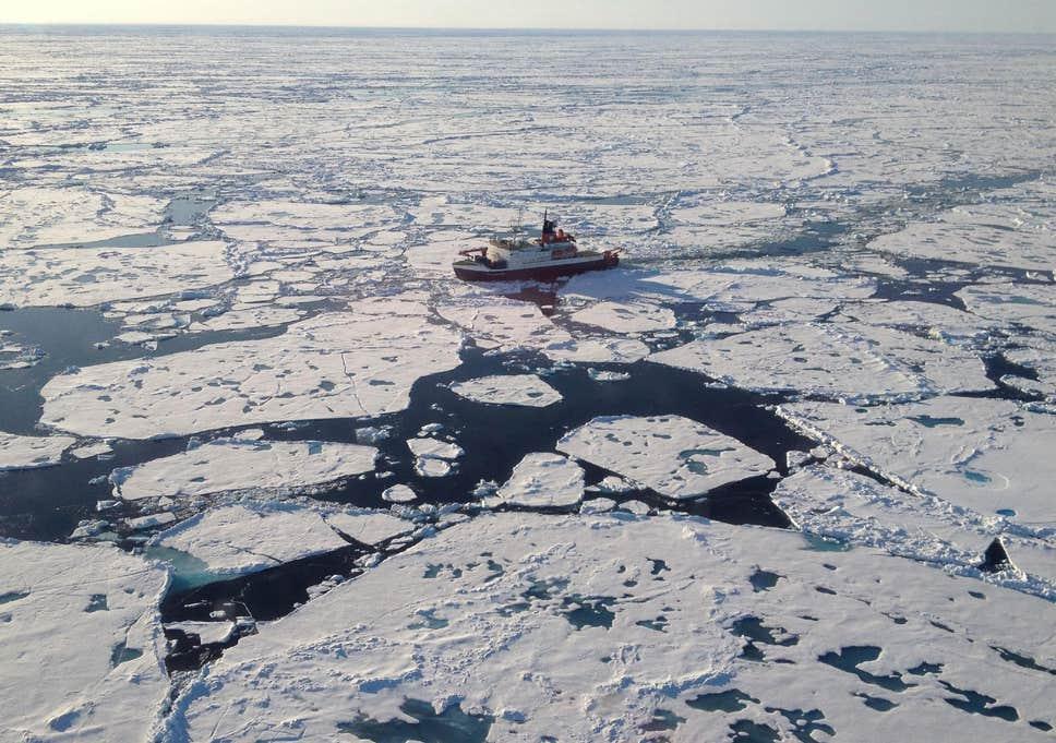 Arctic sea ice loaded with microplastics