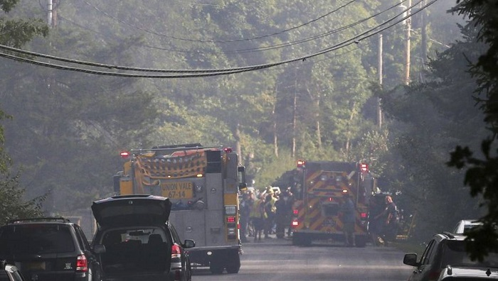 Small plane crashes into house near Poughkeepsie killing 2