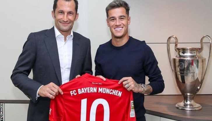 Philippe Coutinho: Bayern Munich sign midfielder on loan from Barcelona