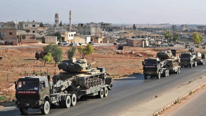 Syrian civil war: 'Three killed' in attack on Turkish convoy