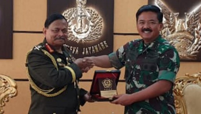 Army chief Gen. Aziz calls on Indonesian Army Chief