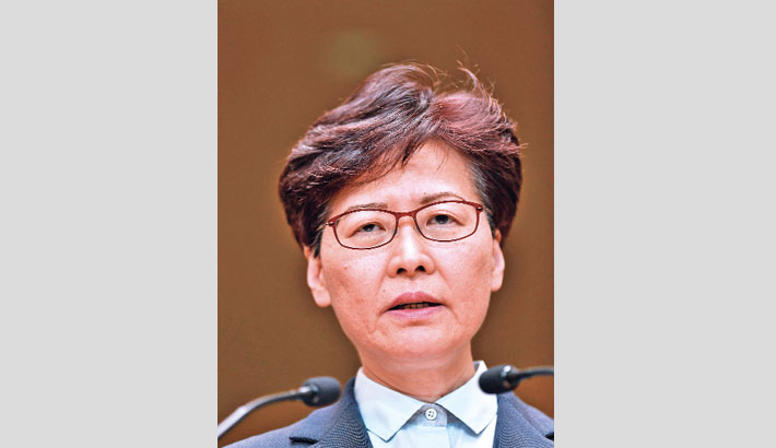 HK leader hopes peaceful rally presages 'return to calm'
