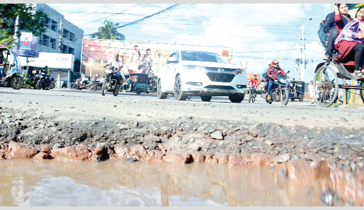 Dilapidated road