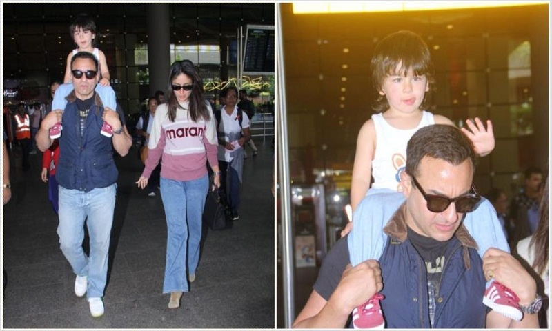 Saif Ali Khan and Kareena Kapoor return to India after 2 months with Taimur