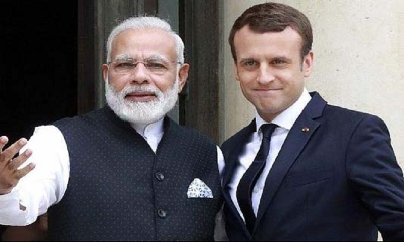 French President Macron to discuss Kashmir with  Indian PM Modi