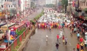 Factory closed after Eid Holidays, garment workers take to street in Shyamoli