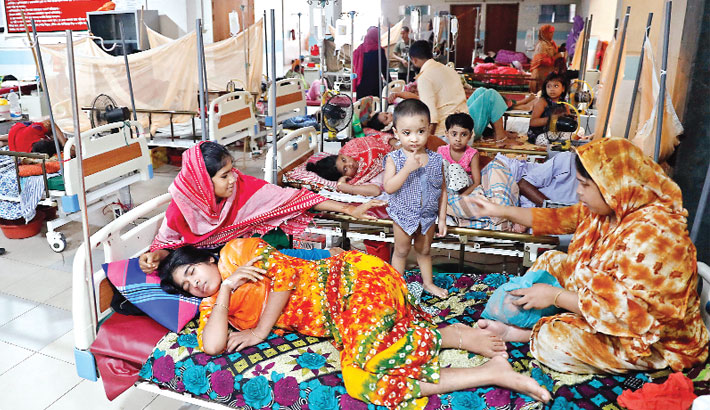 Many people infected with dengue
