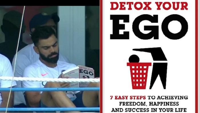 Virat Kohli spotted reading