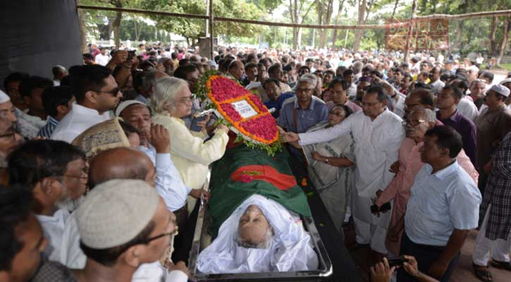 People pay last tributes to Muzaffar Ahmed at Shaheed Minar (Update-6)