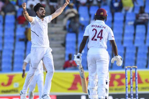 Ishant Sharma takes five wickets as Windies limp to 189-8