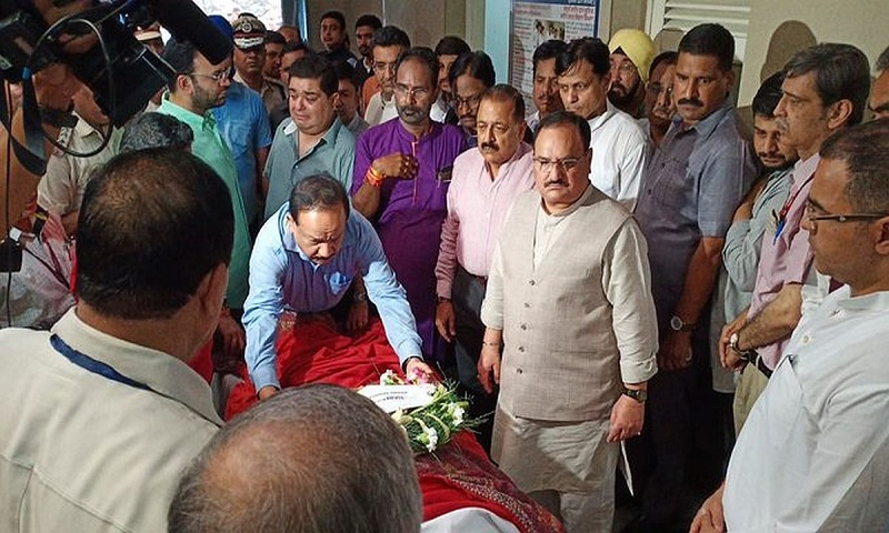 India's former finance minister Arun Jaitley to be cremated at Delhi's Nigambodh Ghat today