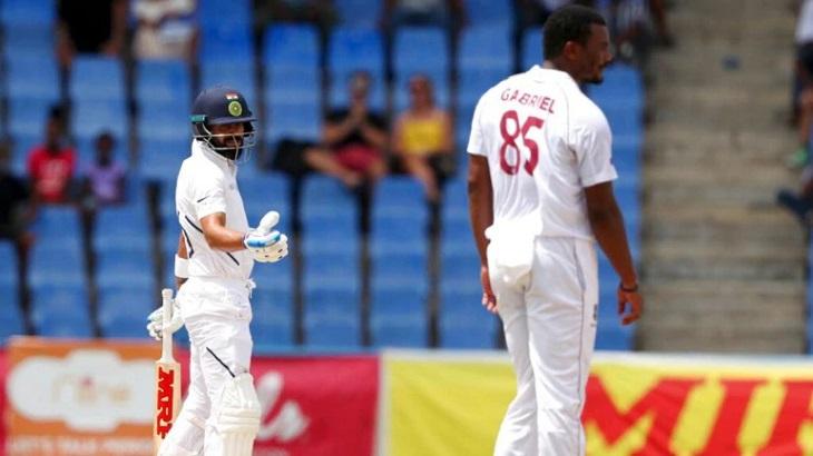 India 98-3 at tea, lead Windies by 173 runs