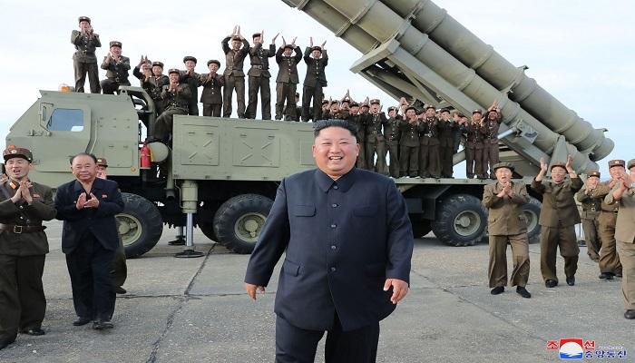 North Korea tests new 'super-large' multiple rocket launcher