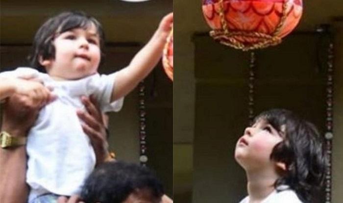 Kareena's son Taimur celebrates dahi handi with cousin Inaaya