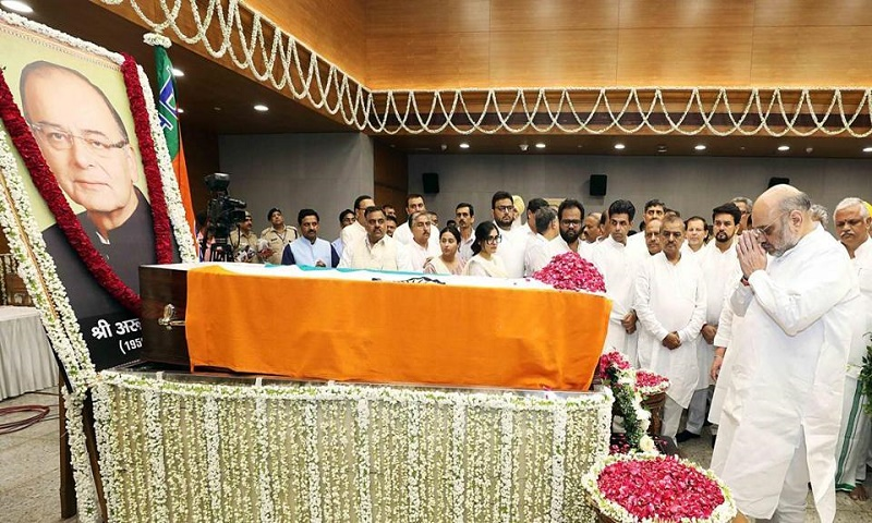 India's former finance minister Arun Jaitley cremated with state honours