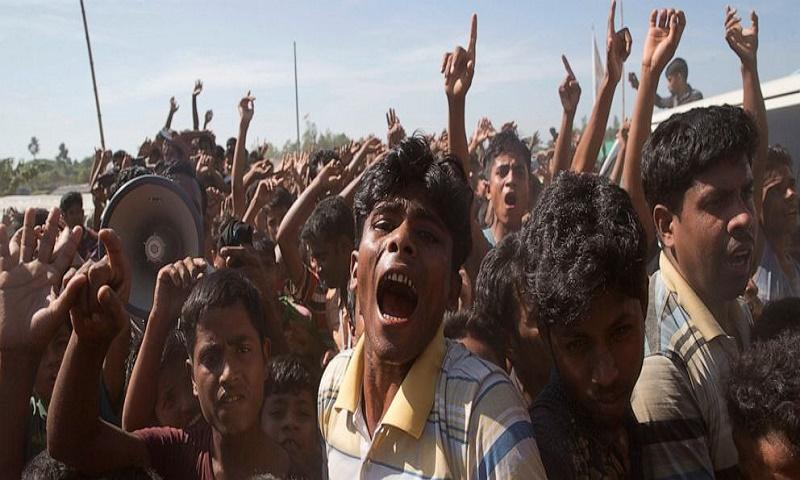 Rohingya people rally to mark 2nd anniversary of exodus