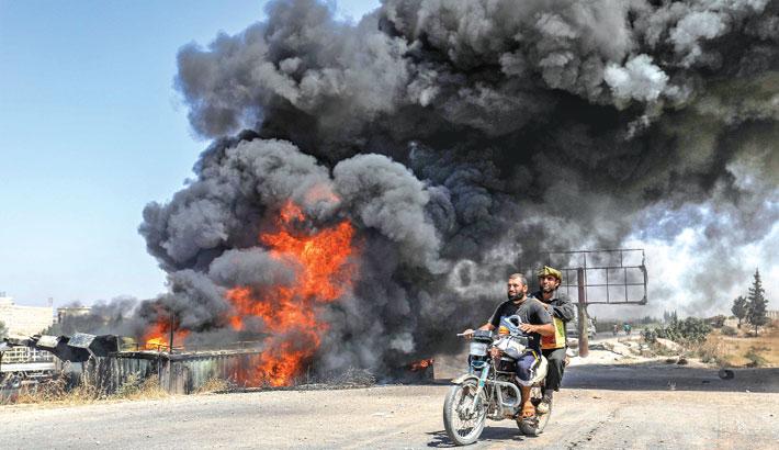 Bombardment, in Maar Shurin