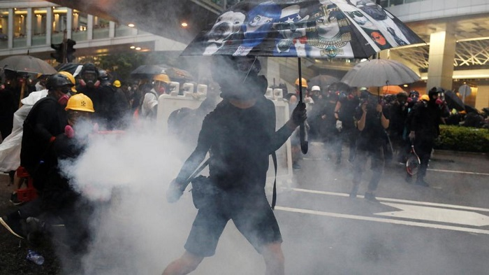 Hong Kong police arrest 36, youngest aged 12, after battling with protesters