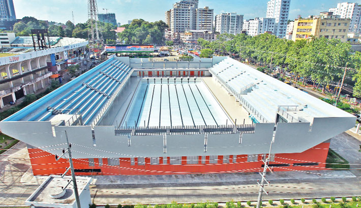 Modern swimming pool  set to open in Sept
