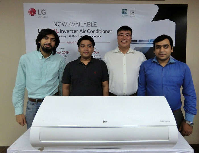 LG restocked dual Inverter Air Conditioner in market