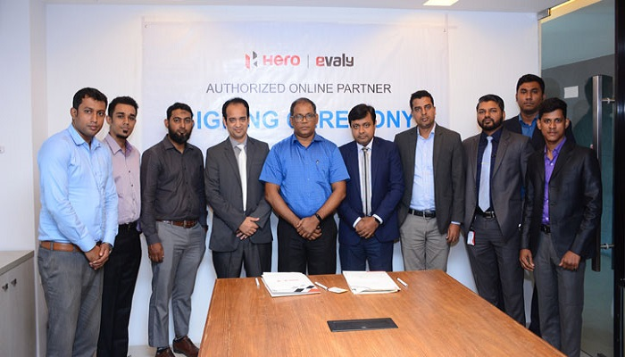 Evaly signs MoU with Hero in city