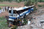 Bus plunges into river, killing 24 in northwest Pakistan