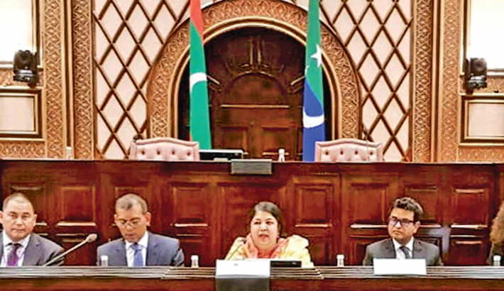 Shirin moderates session on climate change