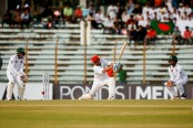 Afghanistan stretch lead to 193, after Shakib's 2-21