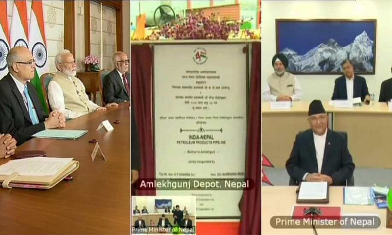 India, Nepal inaugurate cross border oil pipeline