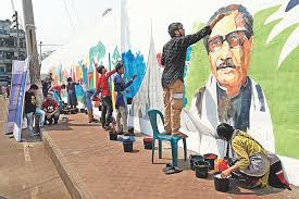 Installation of Bangabandhu murals in railway stations stressed