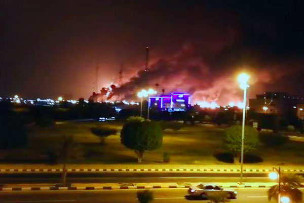 Drones spark fires at two Saudi Aramco oil facilities (Update with video)
