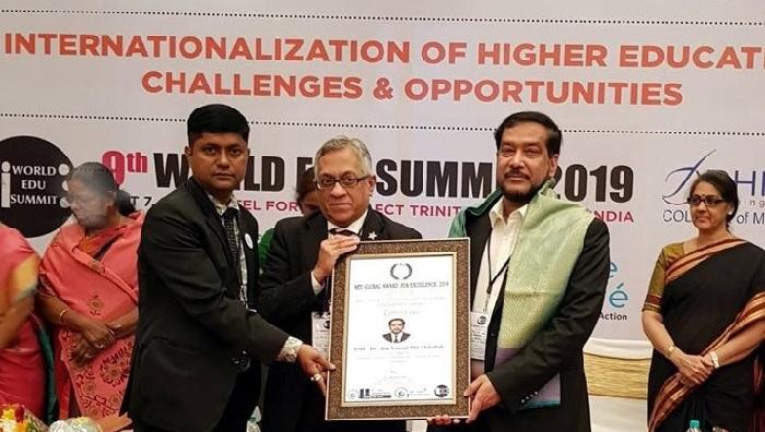 NUBT Khulna VC gets MTC Global Outstanding Academic Leadership Award