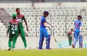 Junior Tigers score 34/4 after 10 overs as Shahadat, Akbar stabilise team