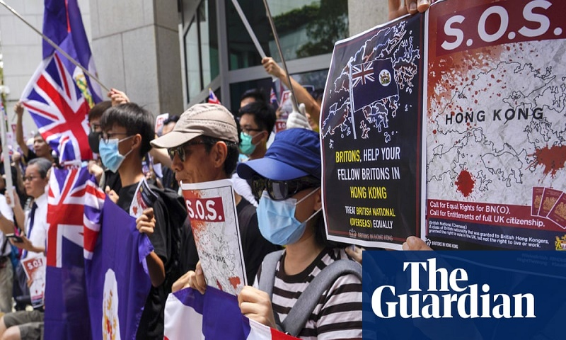 Hong Kong protesters rally outside British Consulate