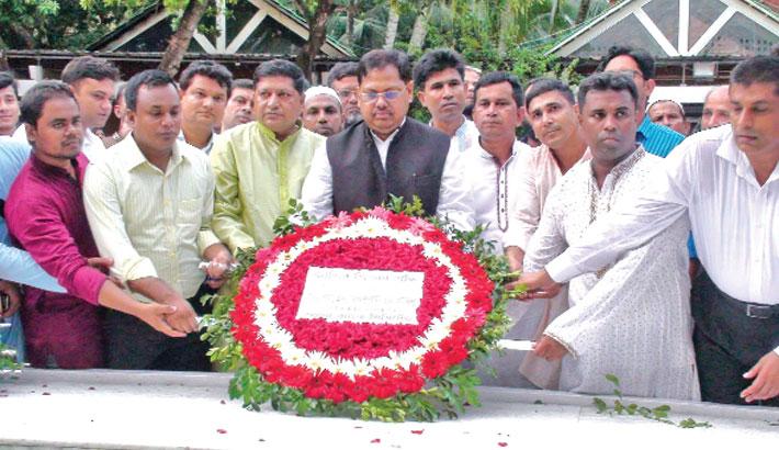 Pays tribute to Father of the Nation Bangabandhu