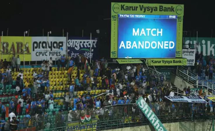 Dharamsala T20I washed out in rainy start to India's home season