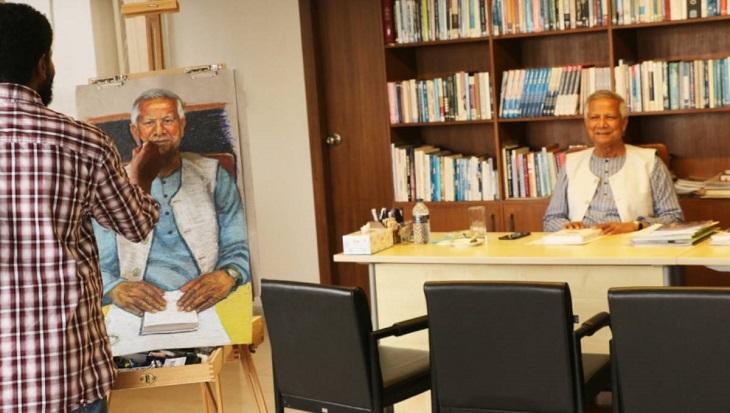 Yunus portrait commissioned by Vanderbilt University