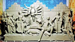 Idol erection of goddess Durga makes artisans busy in Rangpur