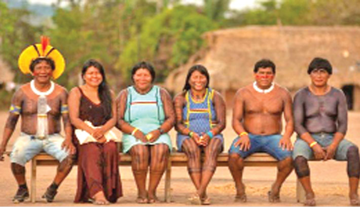 Old enemies in Amazon unite to save their land