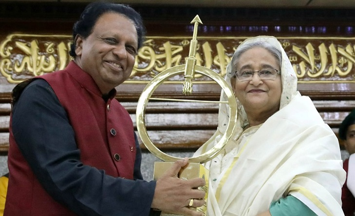 PM Sheikh Hasina receives India's Dr Kalam Smriti International Excellence Awards