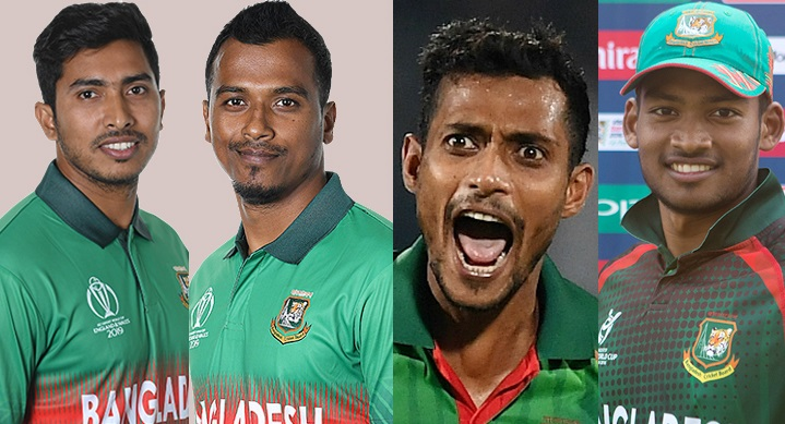Four including Soumya dropped, Rubel and Shafiul in