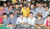 Press conference at Madhur Canteen