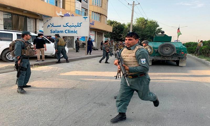 24 killed in Afghanistan's president rally blast