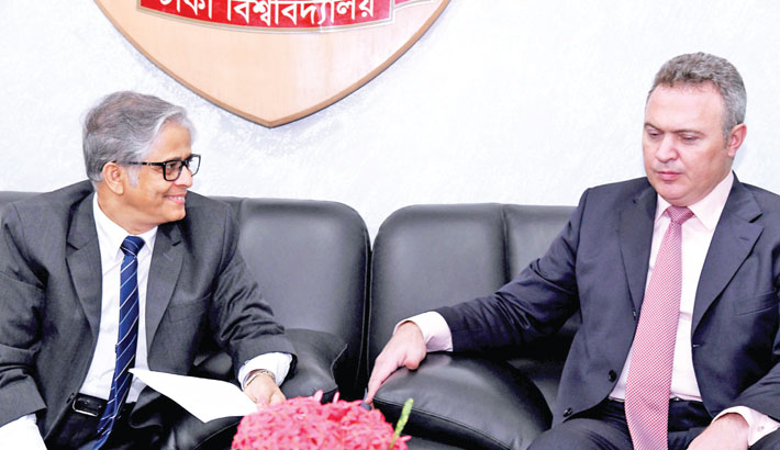 Counselor of Russian Embassy meet with the VC of Dhaka University