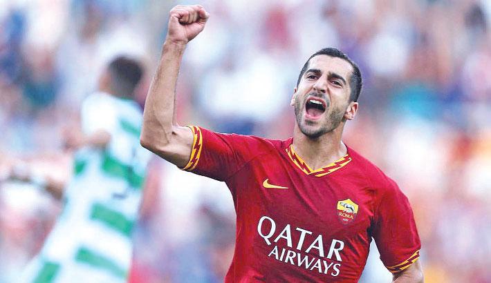 Mkhitaryan scores in Sassuolo rout