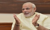 Indian Prime Minister Narendra Modi celebrates 69th birthday with his mother