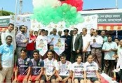 Bangabandhu, Bangamata football meet kicks-off in Khulna