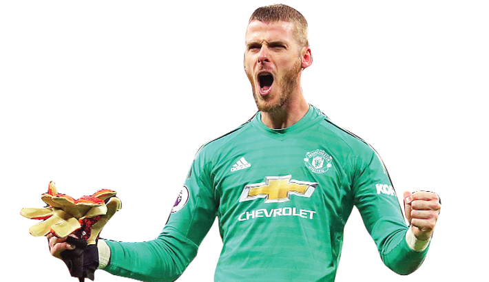 De Gea signs new deal with Man Utd